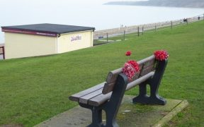 bench overlooking seafront