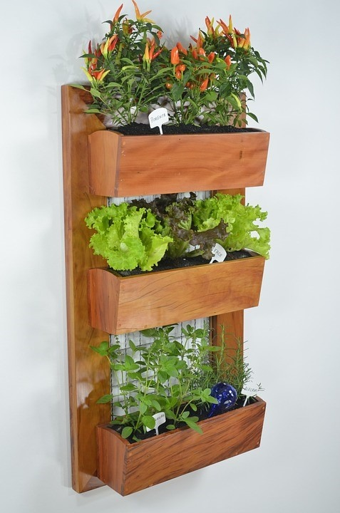wooden wall planter