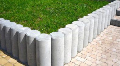 concrete bollards in garden