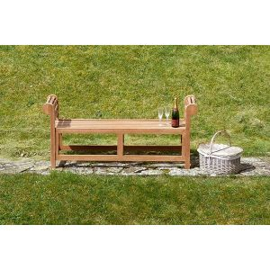 Lutyens Backless Teak Garden Bench 1.5m