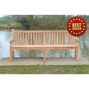 Balmoral Teak Memorial Bench 5 Seater 2.1m