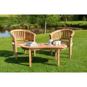 Teak wood banana chair set