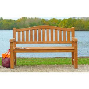 Cambridge Teak Memorial Bench 3 Seater 1.5m