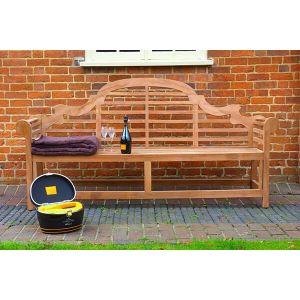 Lutyens Teak Garden Bench 5 Seater 2.1m