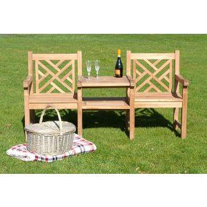 Oxford Teak Couples Garden Bench