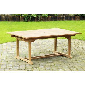 Rectangle Teak Extending Patio Dining Table