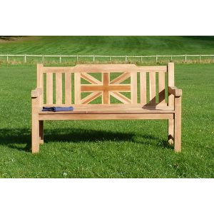 Sandhurst Teak Memorial Bench 3 Seater 1.5m