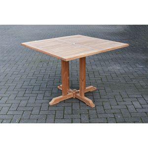 square teak dining table