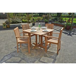 teak square dining set