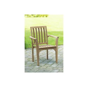 Teak Outdoor Stacking Patio Dining Chairs