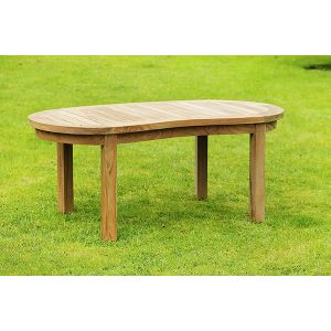 Banana Halfmoon Teak Coffee Table