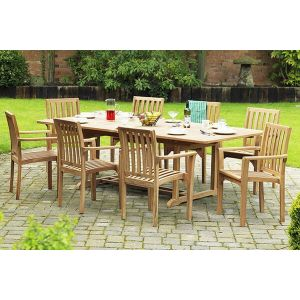 Rectangle Teak Patio Dining Set