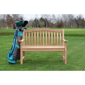 2 Seater Turnberry Bench in teak