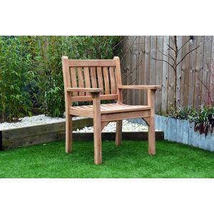 Westminster Flat Arm Teak Garden Chair