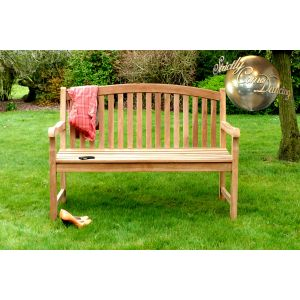 Winchester Teak Single Oval Garden Bench 3 Seater 1.5m