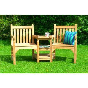 Teak Windsor Couples Bench