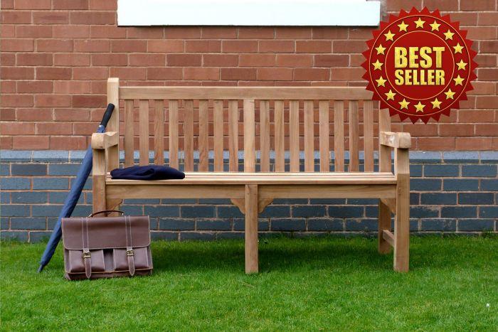 Balmoral Teak Bench 3 Seater 1.5m