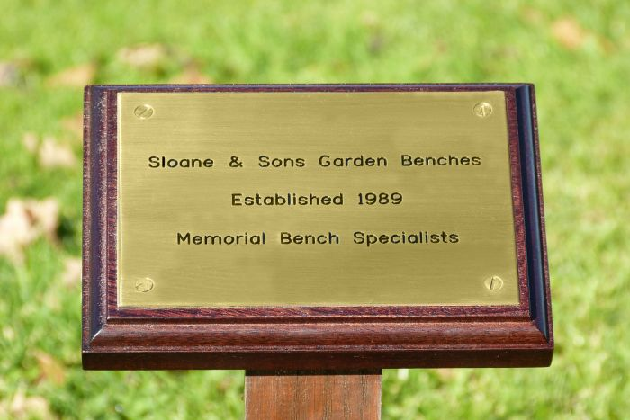 Dark Wood Memorial Stake and Plaque