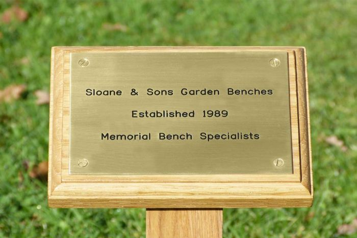 Light Wood Memorial Stake and Plaque