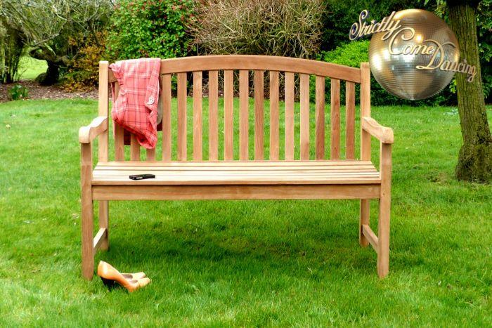 Winchester Teak Single Oval Garden Bench 3 Seater 1.5m