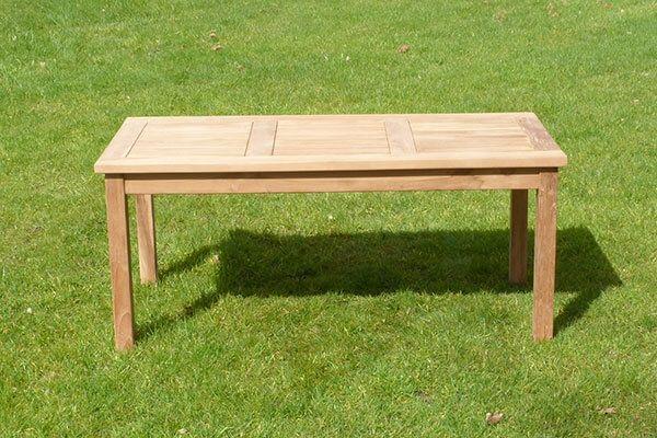 Teak Patio Garden Coffee Table Sloane, Wooden Coffee Table For Garden