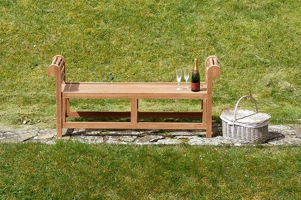 Lutyens Backless Teak Garden Bench 1.5m