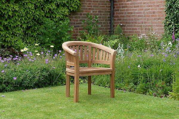 Banana Halfmoon Teak Garden Chair