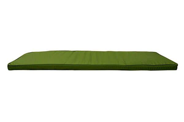 Green Garden Bench Cushion 1.8m