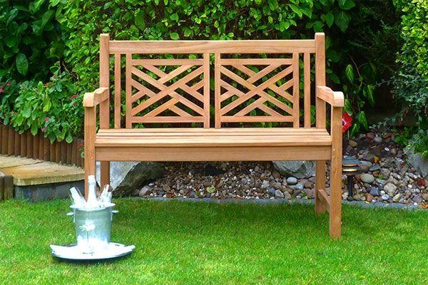 Oxford Teak Garden Bench 2 Seater 1.2m