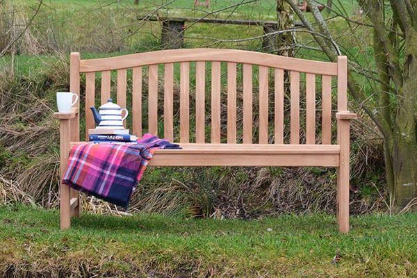 Three seater teak turnberry bench