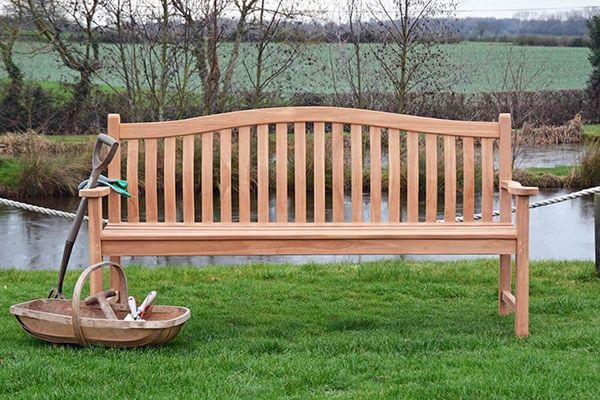 Four seater turnberry bench in teak