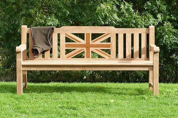 Sandhurst Teak Memorial Bench 4 Seater 1.8m