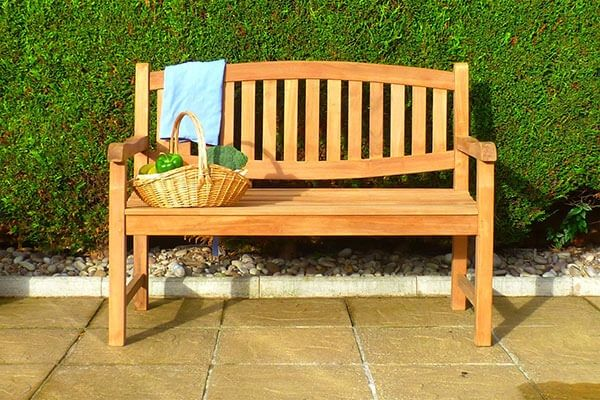 Double Oval Winchester Teak Bench 1.2m