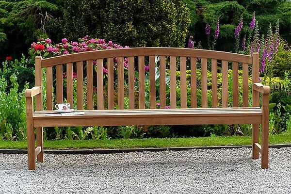 Winchester Single Oval Teak Bench 1.8m